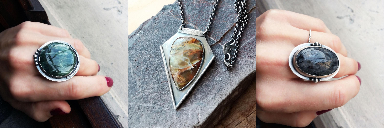 Intricate gemstone jewelry