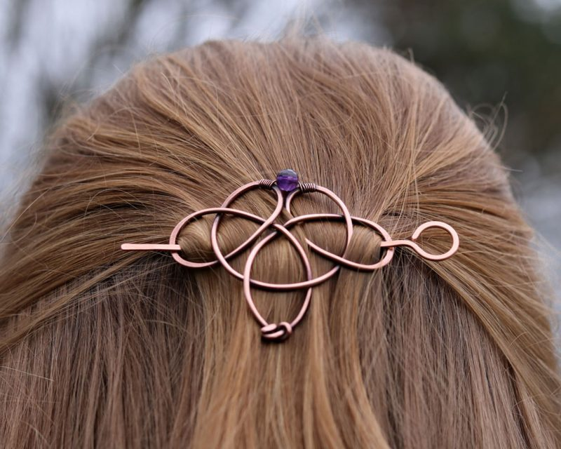 Hair barrette in celtic style