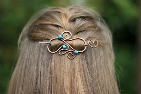 celtic-hair-barrette-blue-gemstones